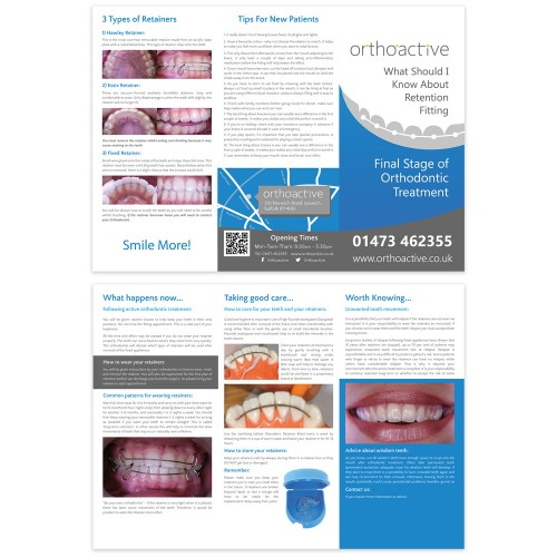 Orthoactive Leaflet Design