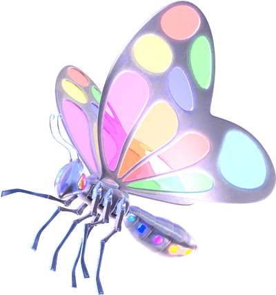 Painting Pixels Ltd 3D Butterfly Logo