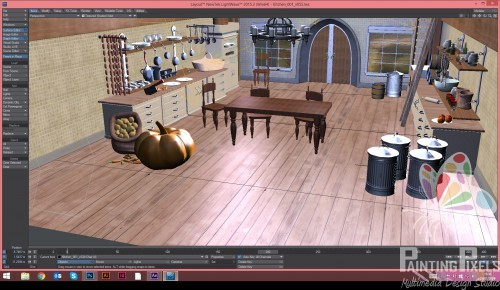 Painting Pixels Cinderella Kitchen Layout