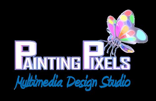 Painting Pixels Multimedia Design Studio 3D Logo
