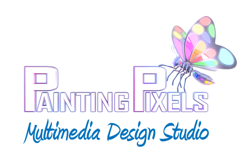 Painting Pixels Multimedia Design Studio 3D Logo
