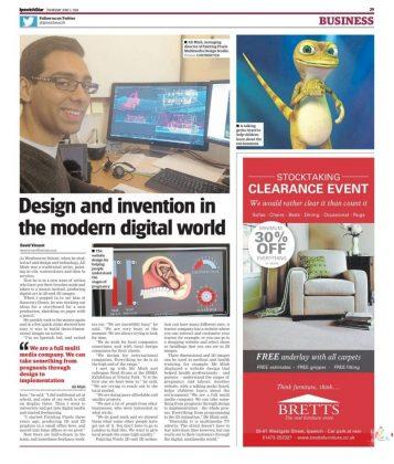 Painting Pixels in Ipswich Star