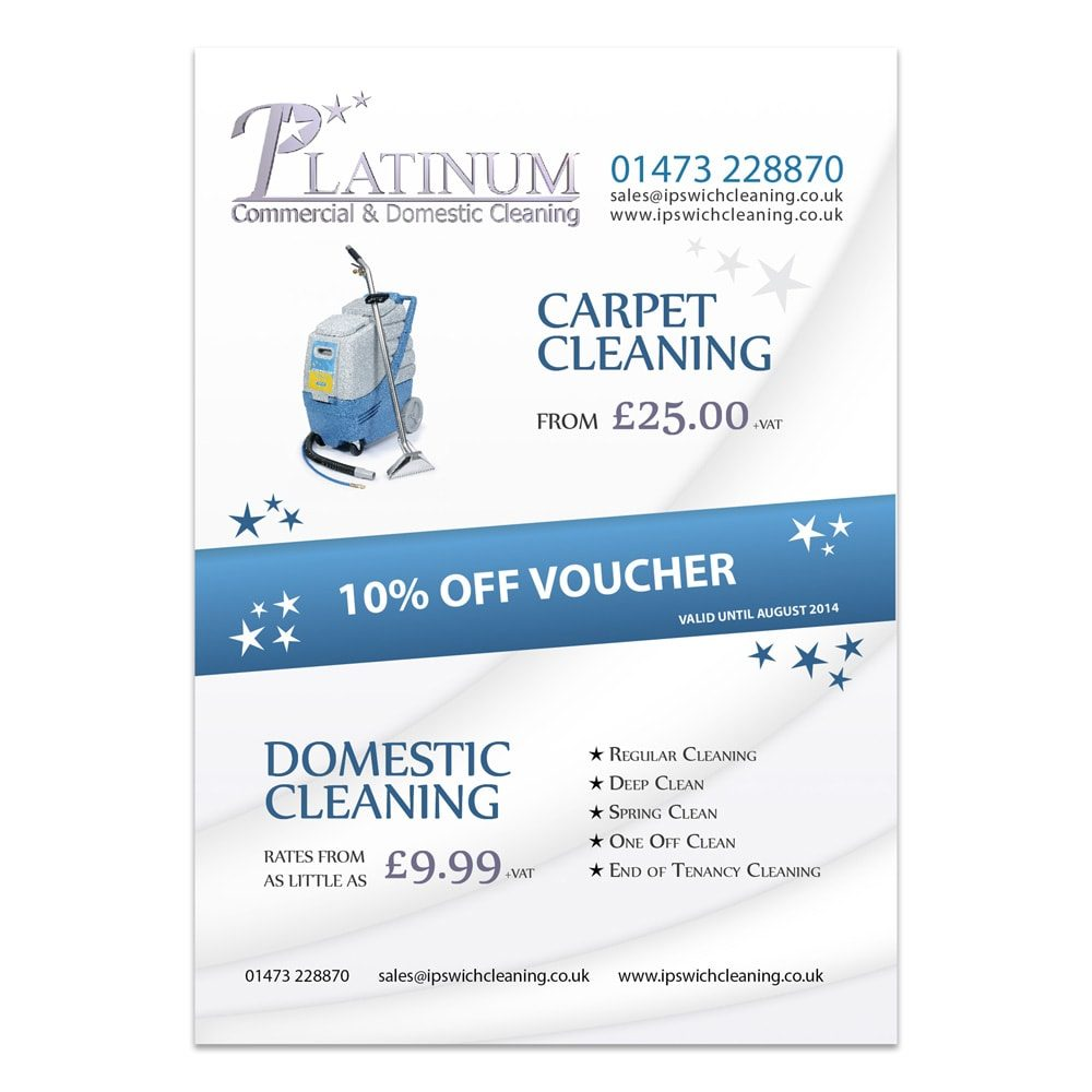 Platinum Cleaning Leaflet Design