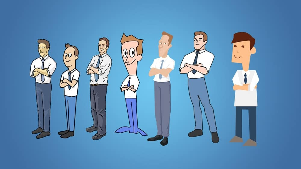 2d animation character styles
