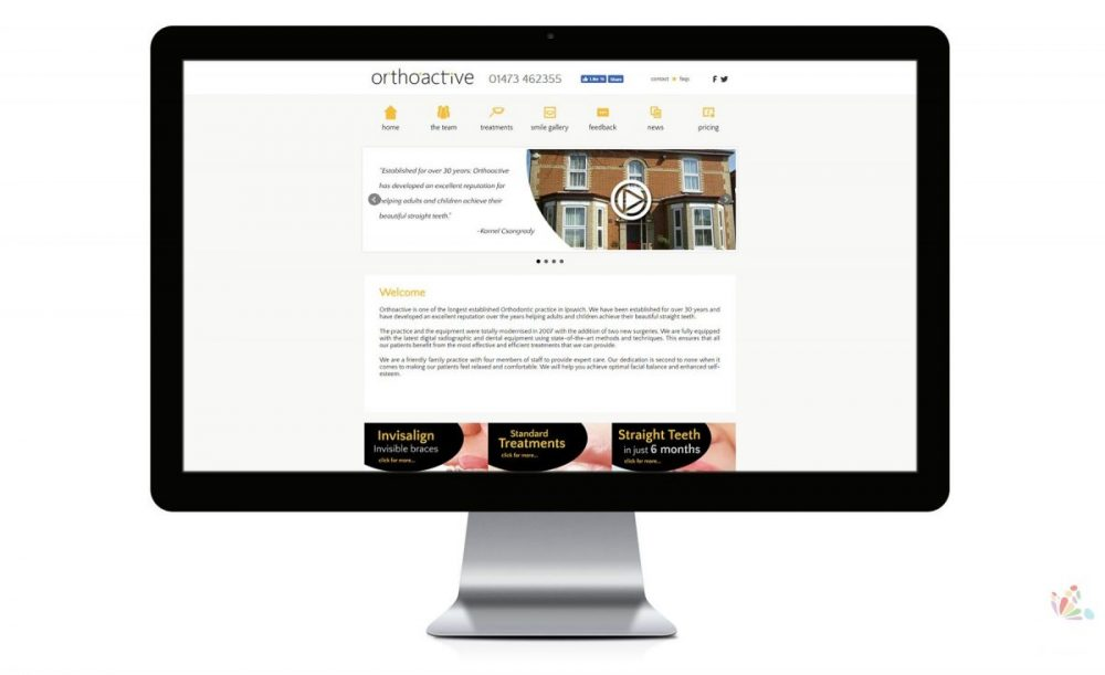 Orthoactive Local website for dentist Ipswich suffolk