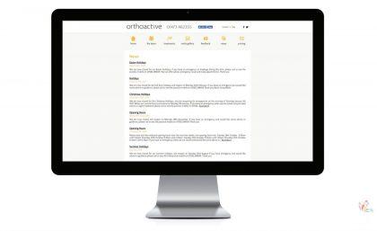 Orthoactive - Logo, Leaflets, Website & Video Production 6