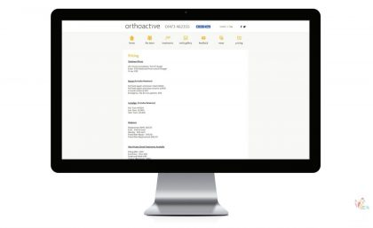 Orthoactive - Logo, Leaflets, Website & Video Production 7