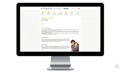 Orthoactive - Logo, Leaflets, Website & Video Production 4