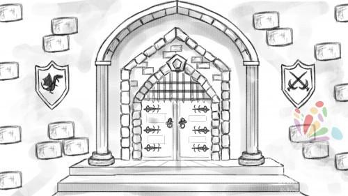 Painting Pixels Castle Door