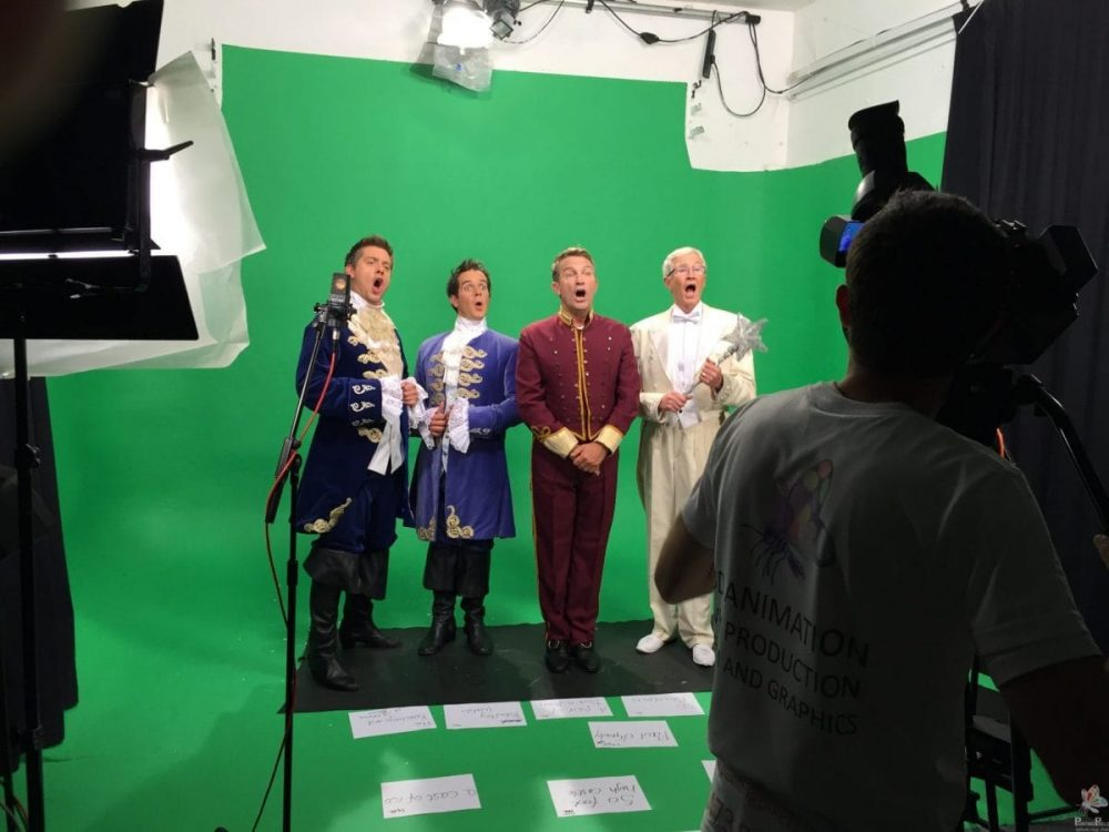 Painting Pixels Cinderella Green Screen Filming London