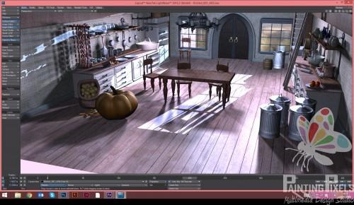 Painting Pixels Cinderella Kitchen Render