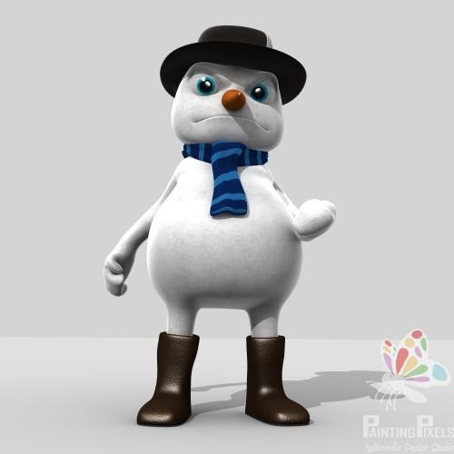 Painting Pixels Cinderella 3D Snowman