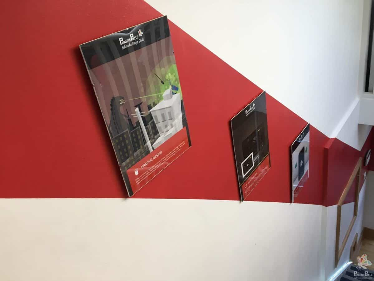 Painting Pixels Wall Poster Stairs
