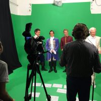Painting Pixels Green Screen Studio With Cast