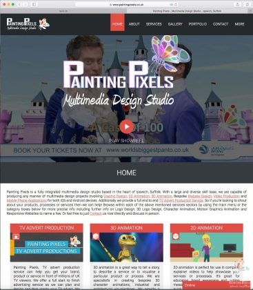 Painting Pixels Website Development