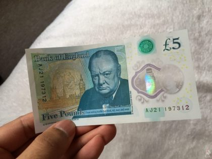 New Five Pound Note Back