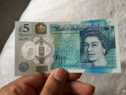 New Five Pound Note Front