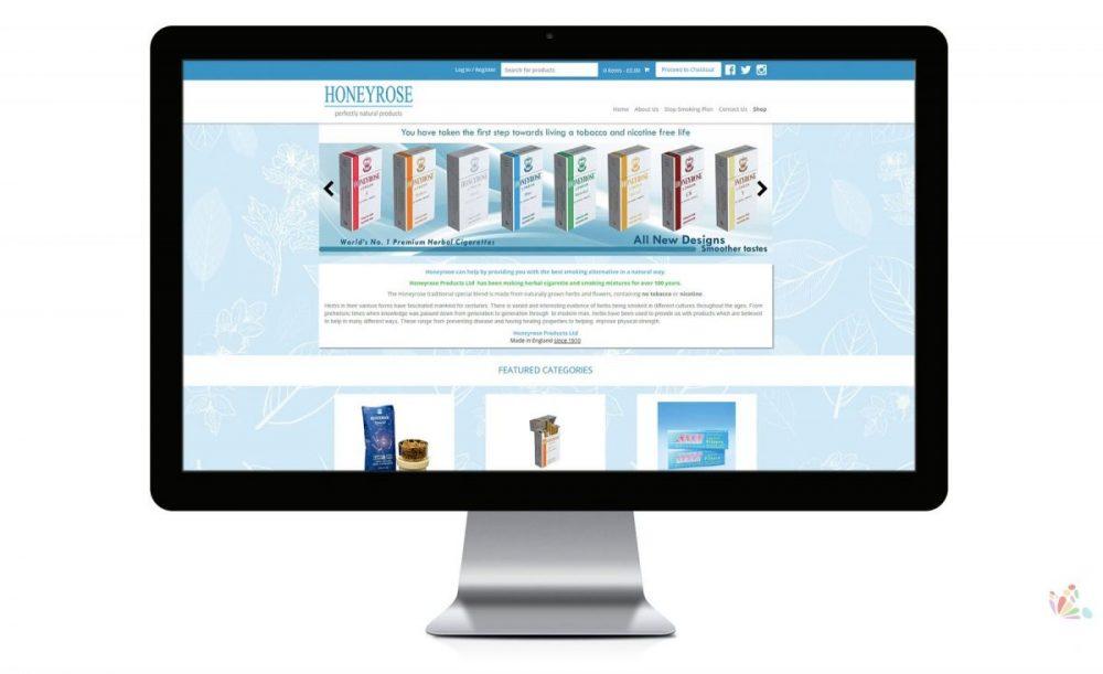 Honey Rose Website Design Ipswich Suffolk