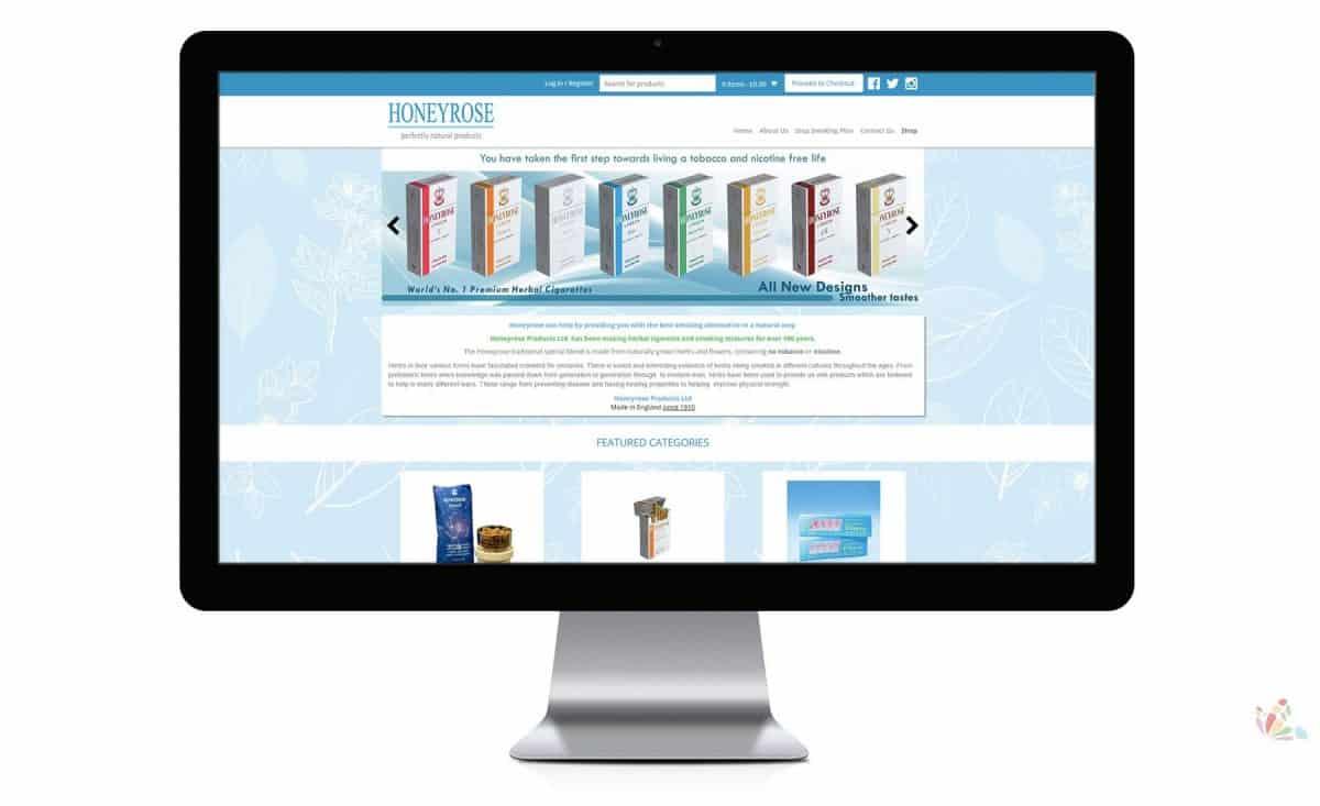 Honeyrose - E-Commerce and Responsive Website 1