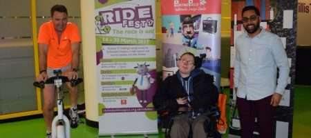 3D Woolly at the Opening of Ride Fest 17
