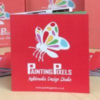 Painting Pixels Brochure Advertisement Leaflet