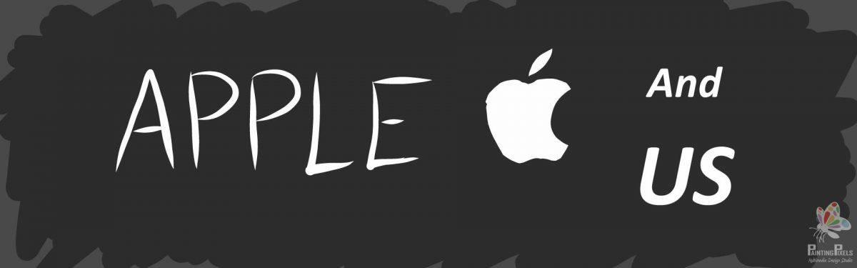 Apple Rough Logo Sketch Banner