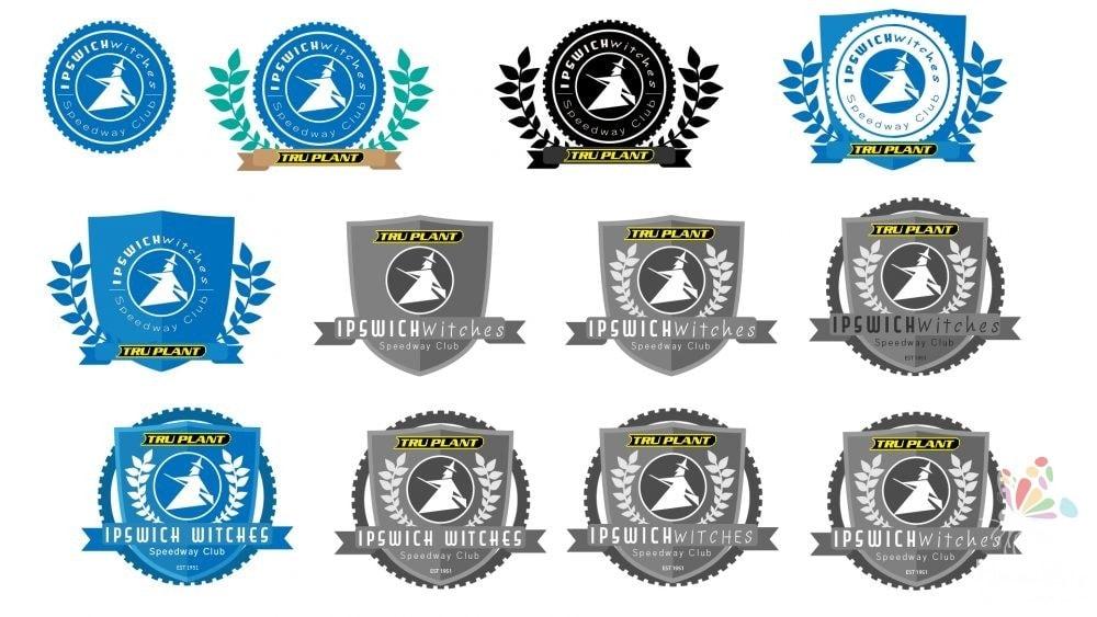 Ipswich Witches Speedway Club Logo Design Service Bespoke Local Company Designer Busniess -2
