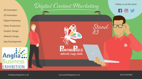 Anglia Business Expedition Digital Content Marketing Stand Ipswich Suffolk