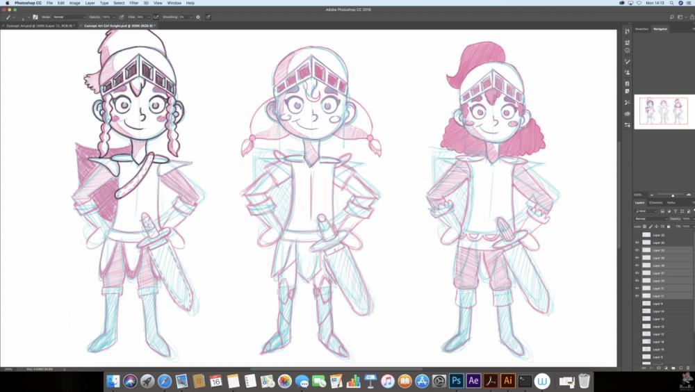 Concept Art Photoshop 2D Animation Design - Paintig Pixels