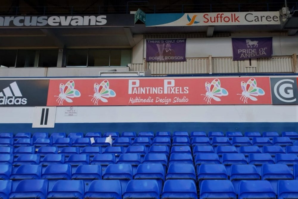 New Advertising Banner at Ipswich Town Football Club 1