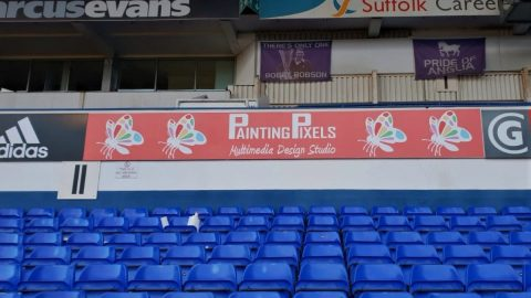 Painting Pixels 3D Animation Digital Marketing Graphic Design Ipswich Suffolk Ipswich Town Football Club Advertsing Banner