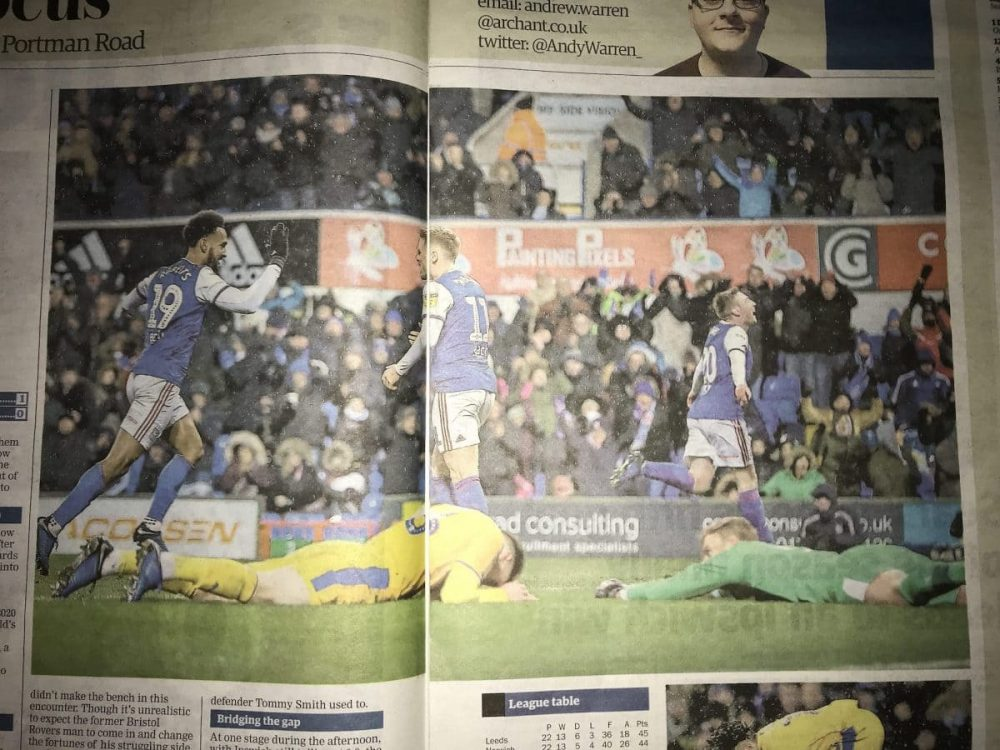 Painting Pixels Newspaper Feature Advert Ipswich Town Football Club Ipswich Graphic Design Logo Design