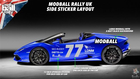 Painting Pixels Modball Rally Sponsor UK Motorsport Animation Digital Marketing Graphics