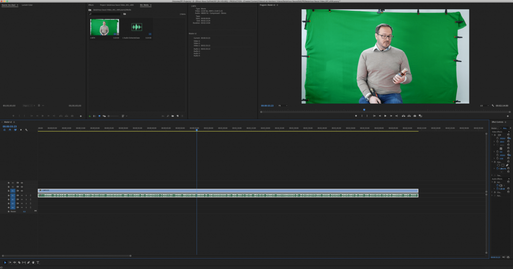 Salubrious Sauce Co Painting Pixels Ipswich Suffolk Premier Pro Adobe Video Editing Design Studio Green Screen
