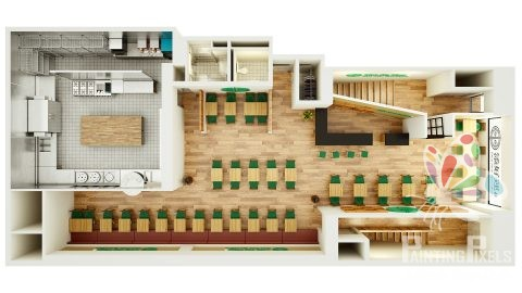 Painting Pixels 3D floor Plan Digital Media Studio Design Ipswich Suffolk 1