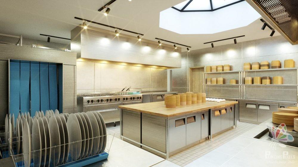 Bespoke 3D Render of Resturant 12