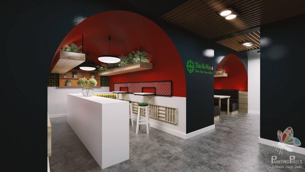 Bespoke 3D Render of Resturant 4