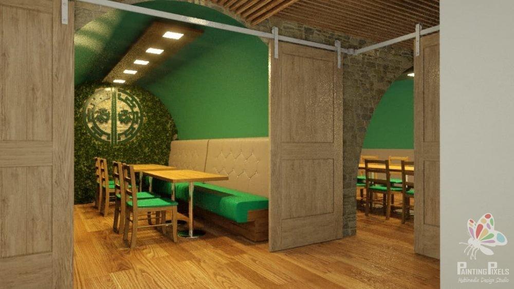 Bespoke 3D Render of Resturant 6