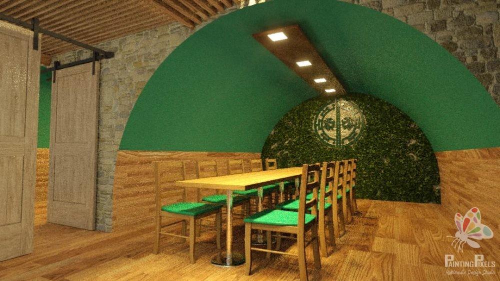 Bespoke 3D Render of Resturant 7