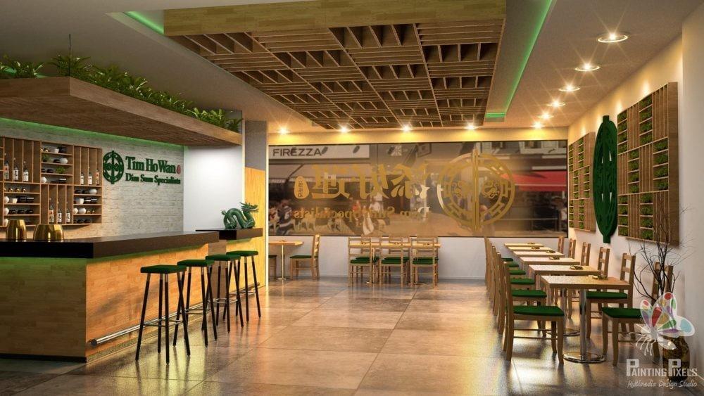 Bespoke 3D Render of Resturant 8