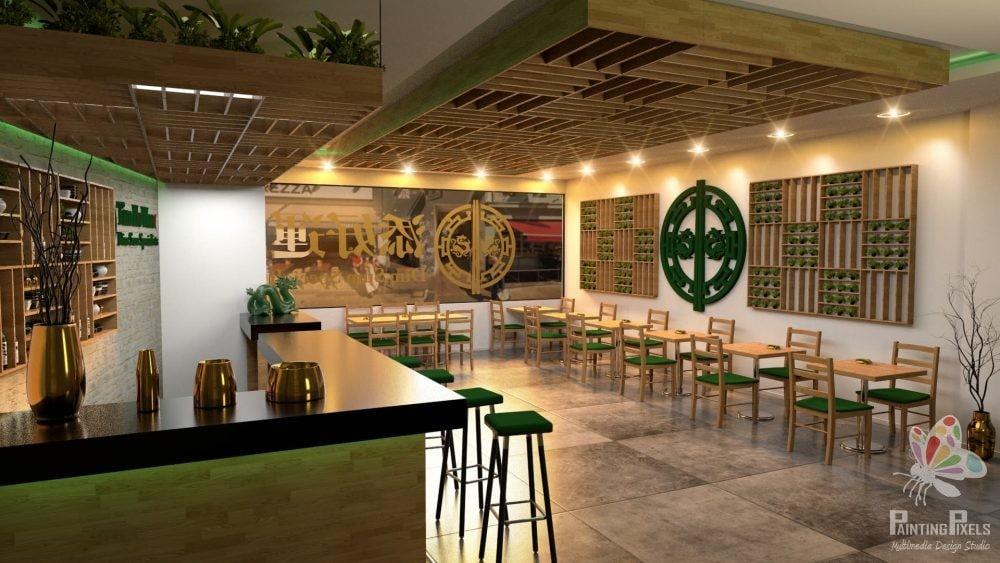 Bespoke 3D Render of Resturant 9
