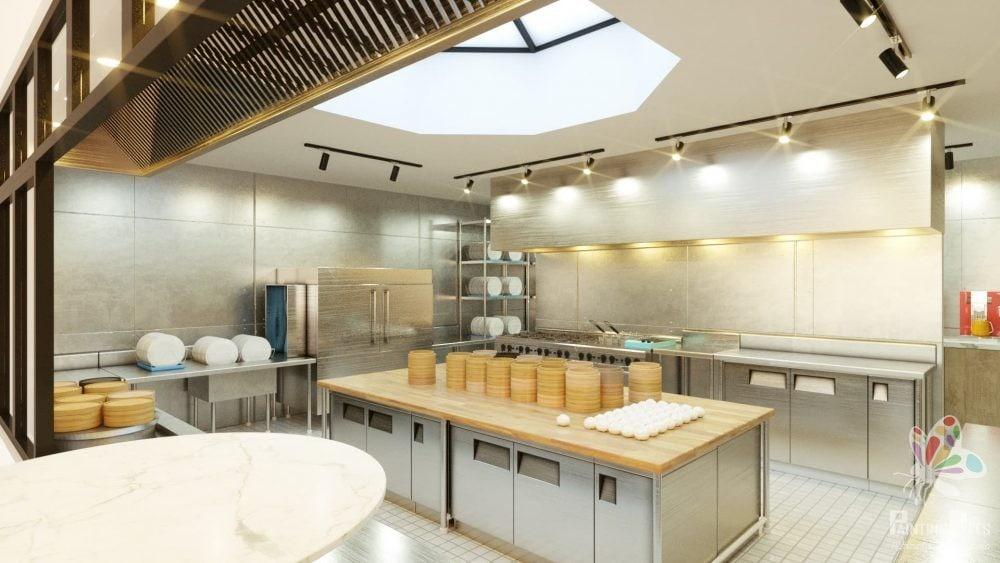 Bespoke 3D Render of Resturant 11