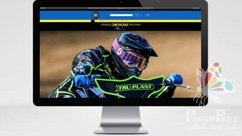 Ipswich witches speedway website design and development ipswich Suffolk bespoke e-commerce website local business – 001