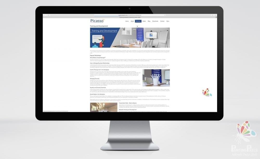 Website Design Ipswich Suffolk East Anglia Picasso HR Web Designer Responsive Bespoke Brochure Site - 3