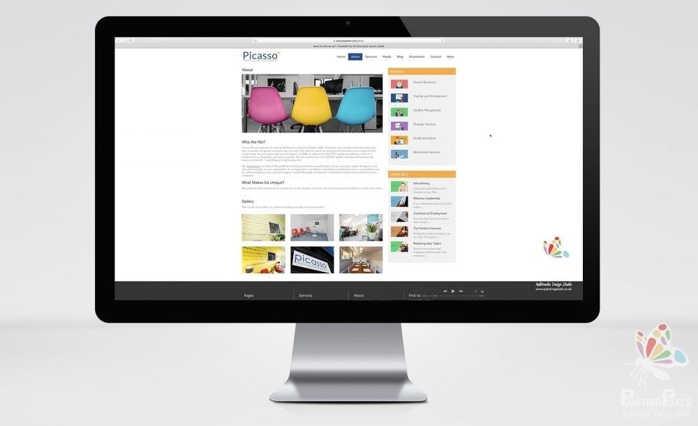 Website Design Ipswich Suffolk East Anglia Picasso HR Web Designer Responsive Bespoke Brochure Site - 4