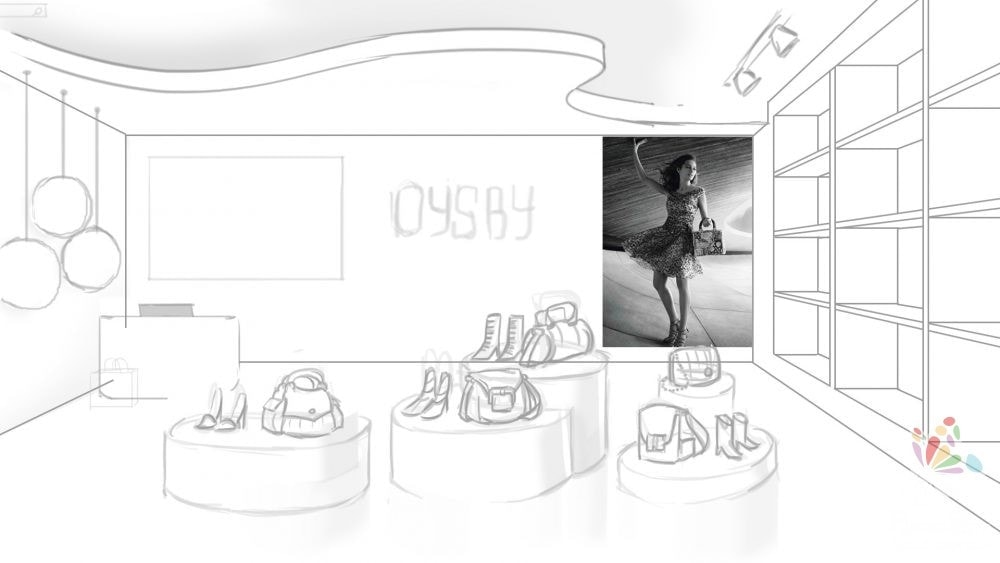 concept sketch 3d store oysby